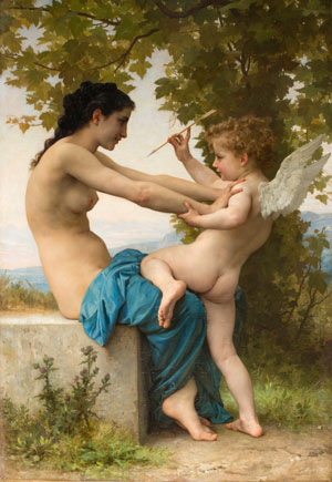 Young Girl Defending Herself Against Eros