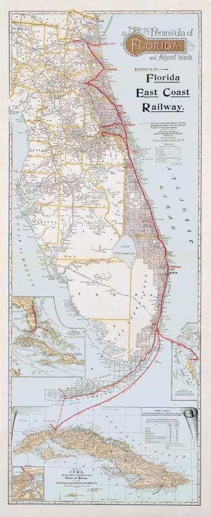 Florida East Coast Railway Products : Florida East Coast Railway Map