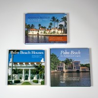 3 coffee table books on Palm Beach architecture